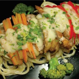 GRILLED CHICKEN WITH SPAGHETTI